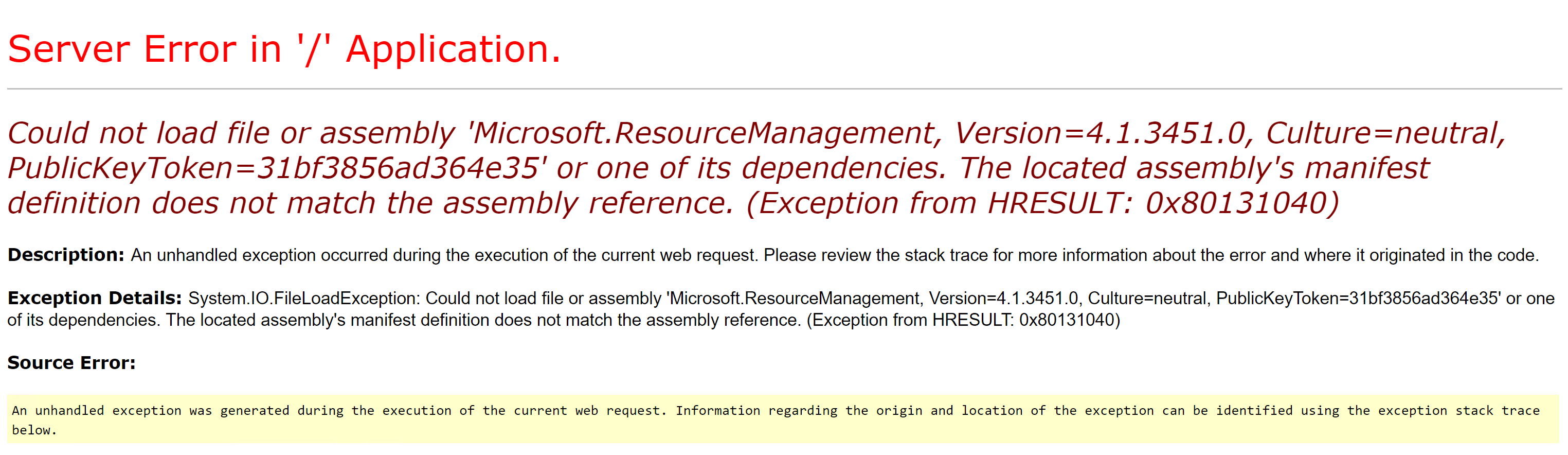 查找Microsoft.ResourceManagement dll.png时出错