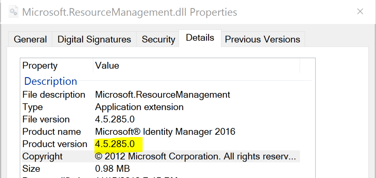 ResourceManagement DLL version from Program Files.PNG