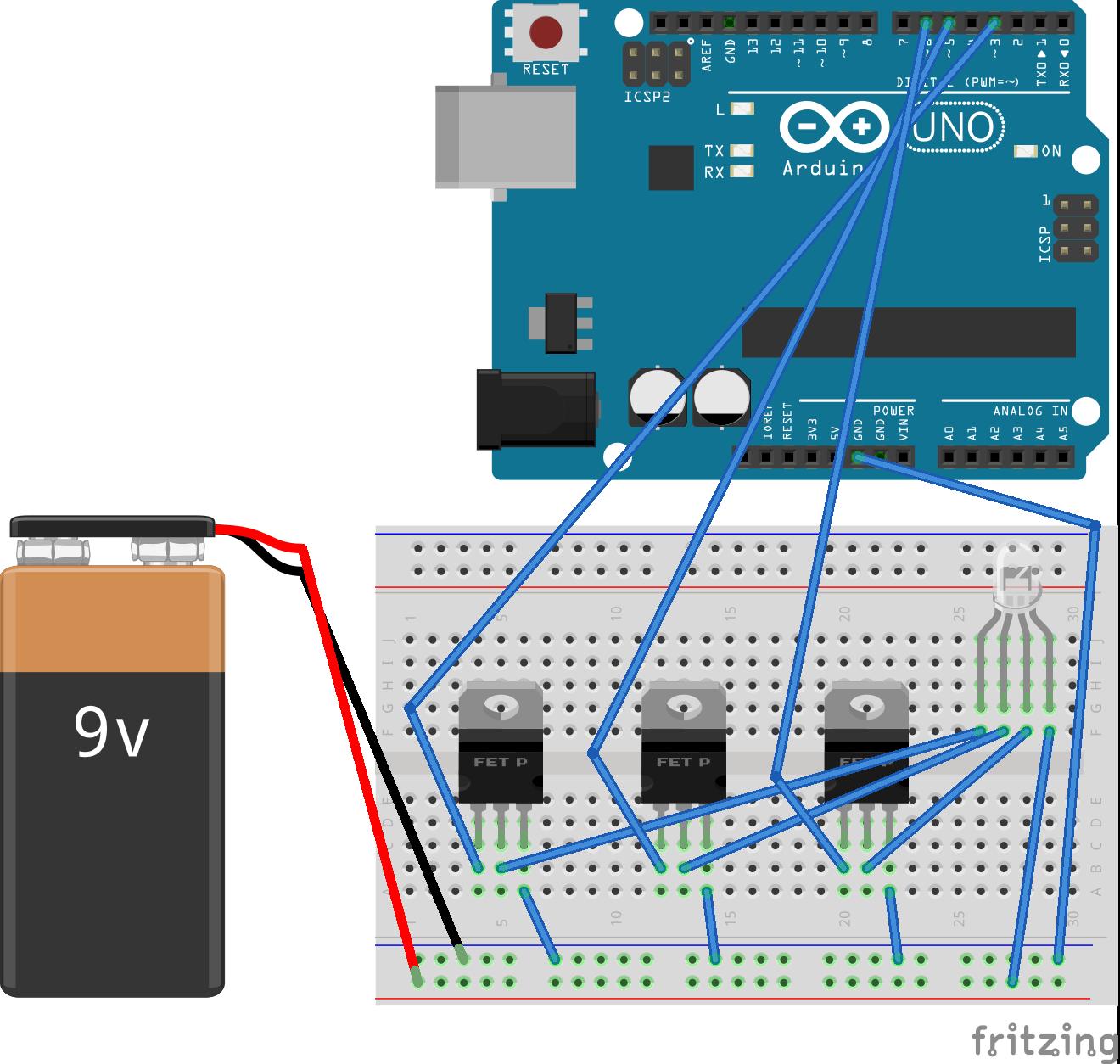Arduino Command Control Schematic