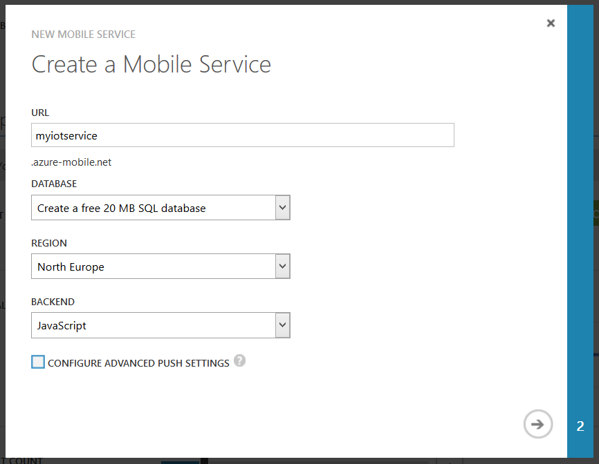 Creating a Mobile Service 2
