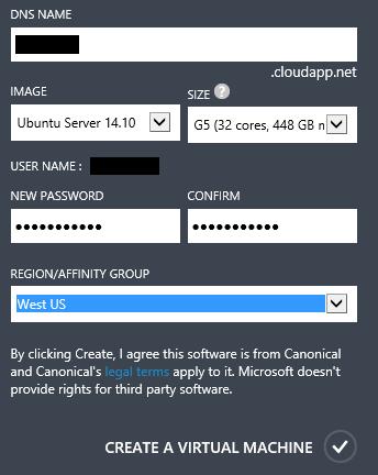 G5 Create VM Dialog