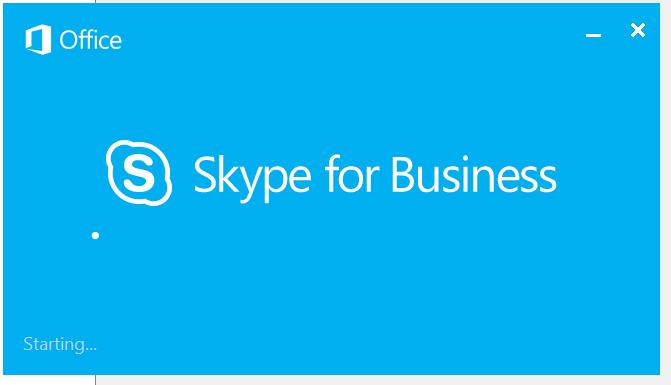 Skype for Business Splash Screen