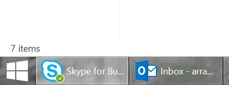 Skype Icon on Windows Taskbar