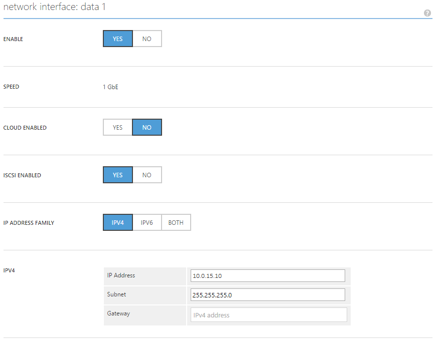 Managing iSCSI interface for StorSimple