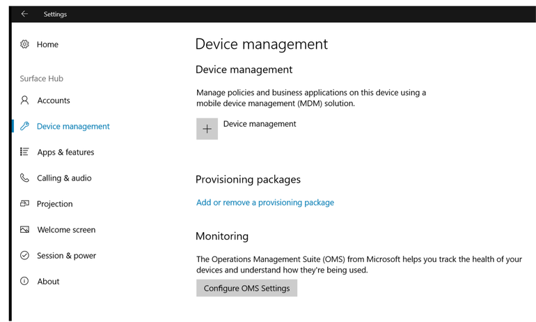 Hub - Device Management